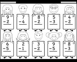 Beginner Subtraction 10 Kindergarten Worksheets