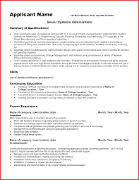 Sample System Administrator Resume Samples Job Resumes Student