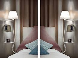 wandle schlafzimmer mit ablage schalter nachttisch