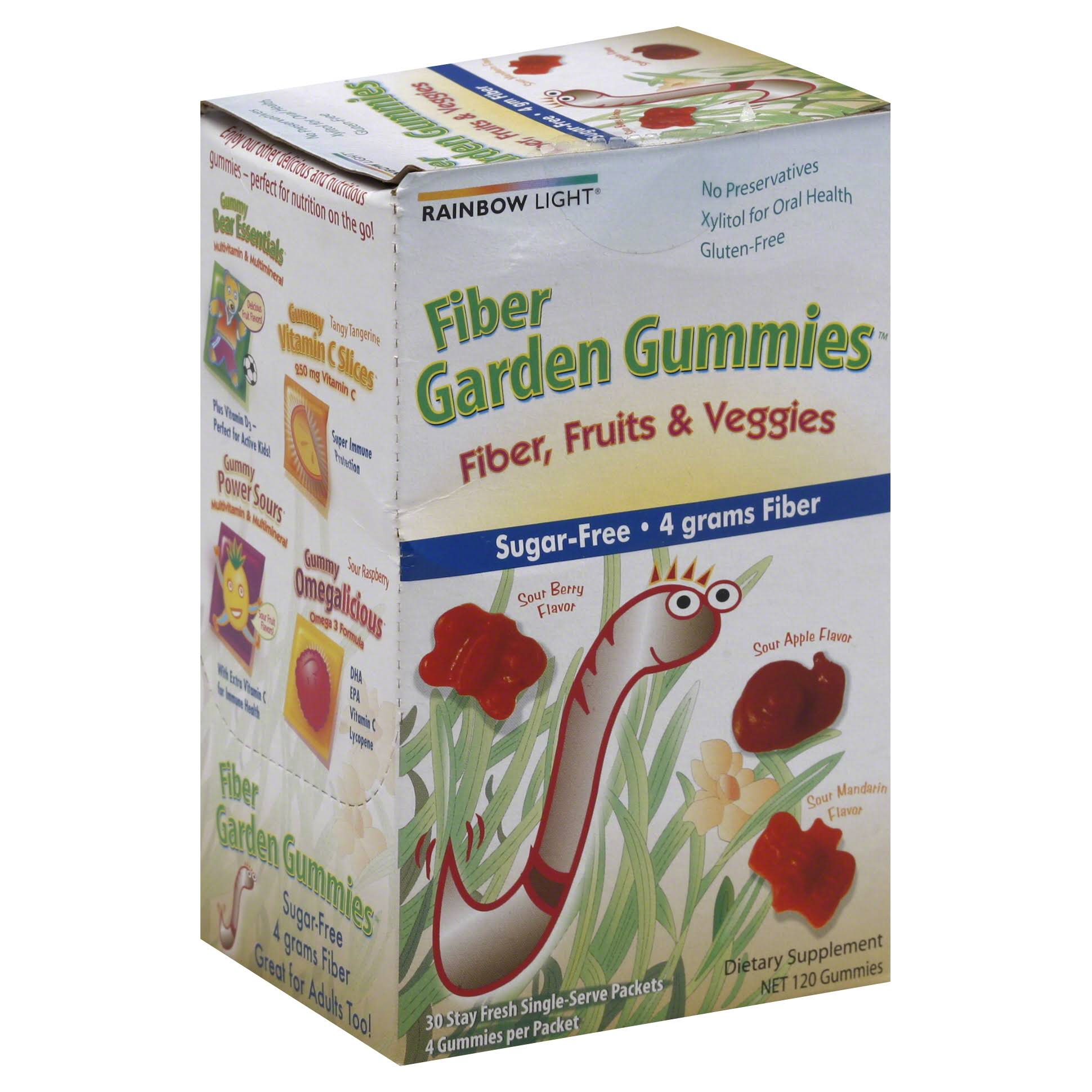 Rainbow Light Fiber Garden Gummies - 30 Packets