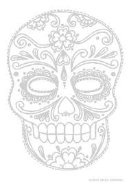 Sugar Skull Journal Coloring Book Color The Cover DiaryJournalBook