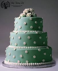 Polka Dot Wedding Cake By The Valley Bakery
