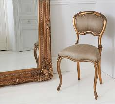 Chairs Gold Accent White And Chair With Miror Wall Outstanding