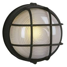 serene black marine oval bulkhead outdoor wall light bk