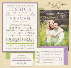 Floral Lavender Wedding Invitations And Inspiration