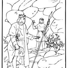 Bible Coloring Pages King Saul Archives