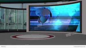Studio A Assignment Desk Red Chroma Key Backgrounds News Broadcast Graphics TV Set Designs