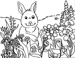 Coloring Pages Springtime Spring Themed Com Printable