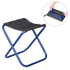 NiceEshop Portable Folding Chair,Durable Compact Ultralight Folding Stool  Seat With A Carry Bag For Hiker, Camp, Beach, Outdoor ,Fishing