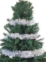 658FT Christmas Foil Tinsel Garland Tree Decoration Silver