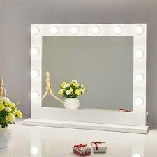 Chende White Hollywood Lighted Makeup Vanity Mirror Light with