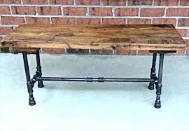 Black Pipe Desk Iron Pallet And Bench
