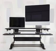Multiple Monitor Standing Desk by Convert Your Existing Desk To A Standing Desk With Varidesk