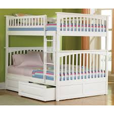 white full over queen bunk bed from wood with good storage jpg