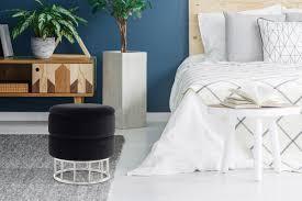rugs carpets hocker sitzhocker silberrand pouf sitzpouf samt schwarz home furniture diy itkart org
