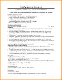 Curriculum Vitae Examples Pharmacist Lovely 6 Format Of C V