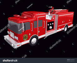 Fire Truck On Black Background Stock Illustration 18659479 ...