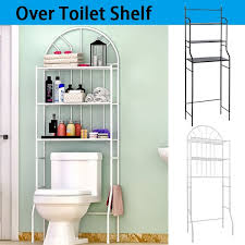 meuble de toilette colonne de toilette meuble wc 3 rangées étagère de salle de bains blanc noir fr wish