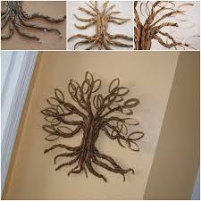 DIY Toilet Paper Roll Twisted Oak Tree Wall Art Craft Ideas Photo Details