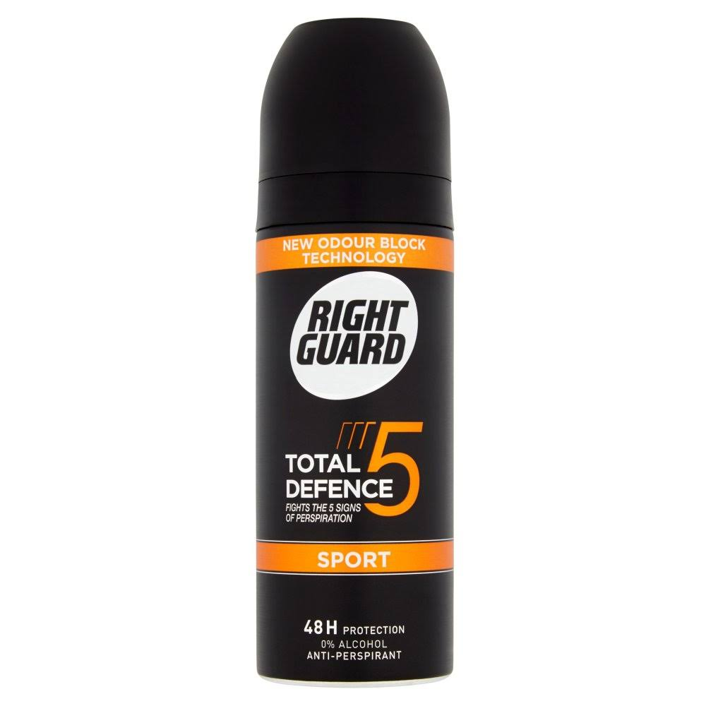 Right Guard Total Defence 5 Anti-Perspirant - Sport, 48H Protection, 150ml