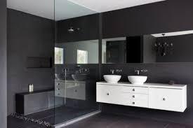 bad ausstattung schwarz weiß möbel set ikea badezimmer