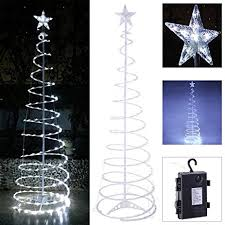 Spiral Lighted Christmas Trees Outdoor by Amazon Com Koval Inc 5ft 6ft Indoor Outdoor Clear Led Lighted