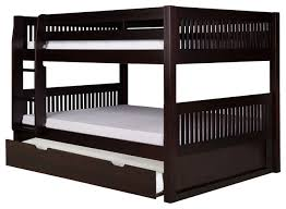Camaflexi Full over Full Low Bunk Bed with Twin Trundle Mission