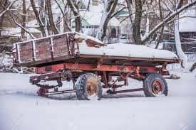 100 Tractor Truck Old On Wheels In The Winter Stock Photo Picture And
