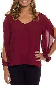 coveted clothing open sleeve blouse from california by bella b