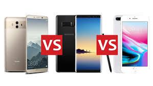 Huawei Mate 10 vs Samsung Note 8 vs iPhone 8 Plus
