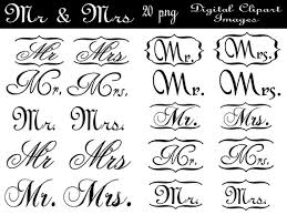 Mr And Mrs Wedding Clipart