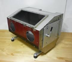 Media Blasting Cabinet Plans by Homemade Sandblasting Cabinet With Integrated 2 5lt Pressure Pot