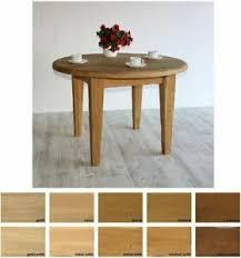 details zu massivholz esszimmer tisch rund 105cm erweiterbar eiche massiv auszugtisch holz