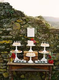 Outdoor Dessert Table By Stone Wall