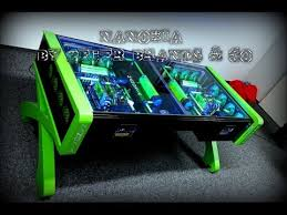 Ultimate Custom Watercooled gaming Desk PC Mod Crazy Gaming PC
