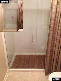 Small Round Bath Rugs by Bathroom Round Teak Bath Mat On Travertine Tile Floor For Modern