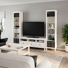 hemnes tv möbel kombination weiß gebeizt 245x197 cm