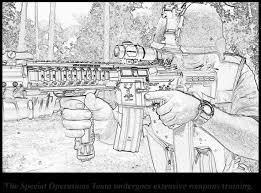 Gun Coloring Pages Detail Description