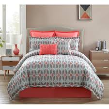 Coral Colored Bedding by Crest Home Ellen Westbury King Comforter Bedding Set With Sheets
