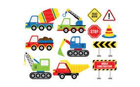 100 Types Of Construction Trucks Clipart LESCL25B Illustrations Creative Market