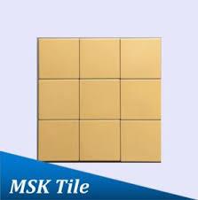 china 4x4 matt yellow glazed porcelain floor and wall tile china