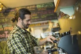 Man Making Coffee Stock Photo