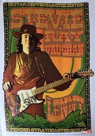 Stevie Ray Vaughan Lenny Guitar Center Poster Very Rare Mint Condition