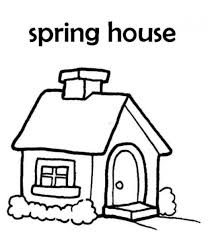 House Of Spring Coloring Page