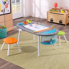 Toddler Art Desk Australia by Chalkboard Art Table With Stools
