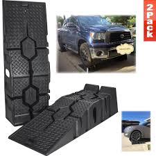 100 Heavy Duty Truck Ramps 16000 LB Plastic SUV Trailer Car Oil Change