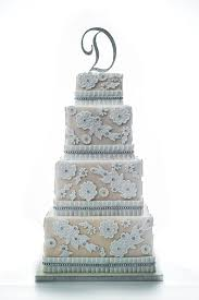 Four Tier Square Lace Wedding Cake BrRent EUR150brRefundable