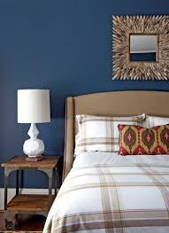 schlafzimmer mit weiß blauen wänden blaues die farbschemata