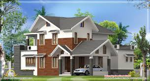 Pitched Roof House Designs Photo by Modern Sloping Roof House Kerala Home Design Floor Architecture