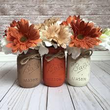 Fall Mason Jars Home Decor Table Rustic